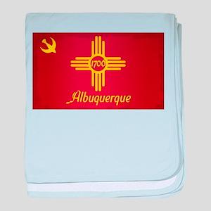 Albuquerque City Flag baby blanket