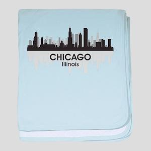 Chicago Skyline baby blanket