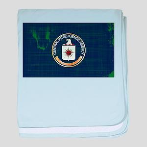 CIA Flag Grunge baby blanket