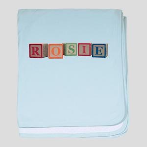 Rosie Alphabet Blocks baby blanket