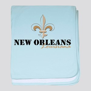 New Orleans Louisiana gold baby blanket