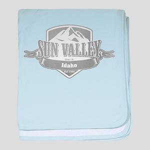 Sun Valley Idaho Ski Resort 5 baby blanket