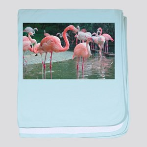 Flamingo Birds baby blanket