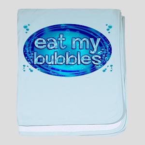 Bubbles baby blanket