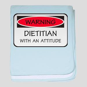 Attitude Dietitian baby blanket
