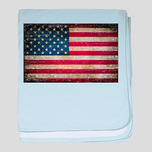 Faded American Flag baby blanket