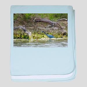 Little Blue Heron baby blanket