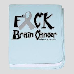 Fuck Brain Cancer baby blanket