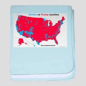 Trump vs Clinton Map baby blanket
