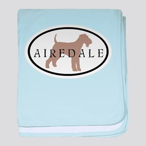 Airedale Terrier Oval #2 baby blanket