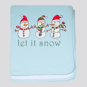 Let It Snow baby blanket
