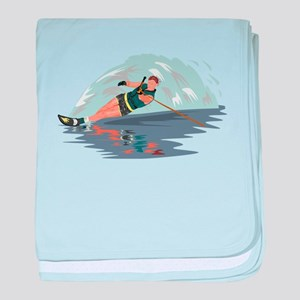Water Skiing baby blanket