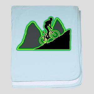 Mountain Biking baby blanket