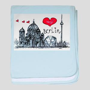 I love Berlin baby blanket