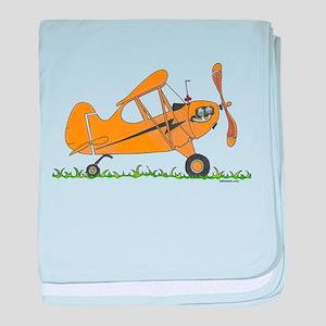 Cub Airplane baby blanket
