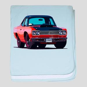 BabyAmericanMuscleCar_69_RoadR_Orange baby blanket