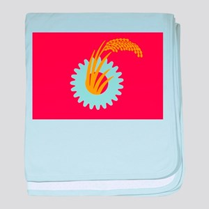 Japanese Communist Flag baby blanket