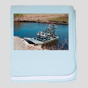 Florida swamp airboat 2 baby blanket