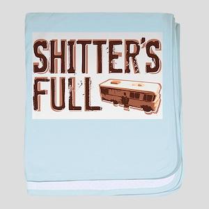 Shitter's Full baby blanket