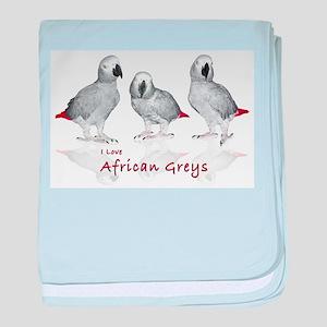 african grey parrots baby blanket