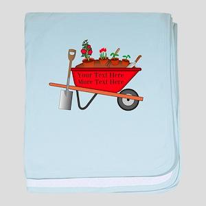 Personalized Red Wheelbarrow baby blanket