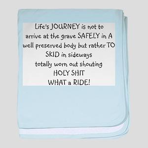 Life's journey baby blanket