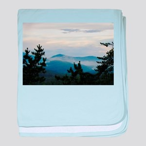 Smoky Mountain Morning baby blanket