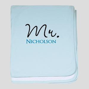 Customizable Name Mr baby blanket