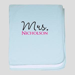 Customizable Name Mrs baby blanket