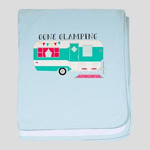 Gone Glamping baby blanket