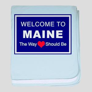 Maine Love baby blanket