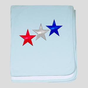 Three Shiny Stars baby blanket