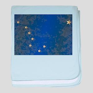 Flag of Alaska Grunge baby blanket