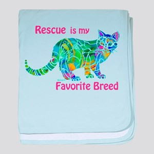 RESCUE is Favorite Breed CATS baby blanket