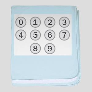Typewriter Keys Numbers baby blanket