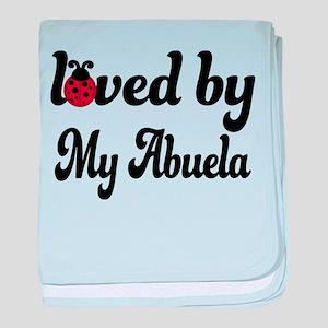Loved By My Abuela Ladybug baby blanket