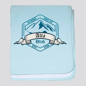 Alta Ski Resort Utah baby blanket