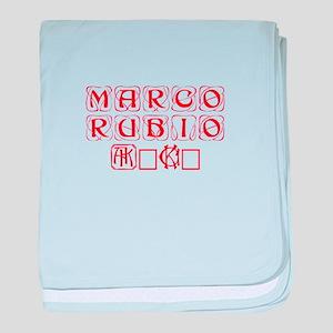 Marco Rubio 2016-Kon red 460 baby blanket