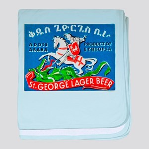 Ethiopia Beer Label 3 baby blanket