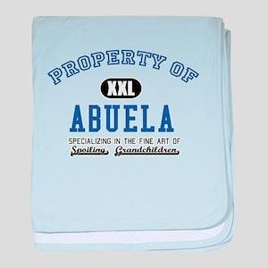 Property of Abuela baby blanket