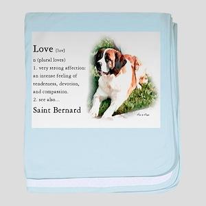 Saint Bernard Gifts baby blanket