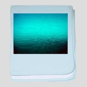 aqua blue water ombre black baby blanket