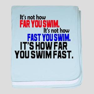 Swim Fast Infant Blanket