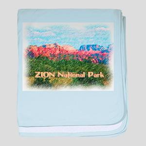 Zion National Park, Utah baby blanket