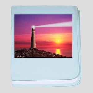 Lighthouse baby blanket