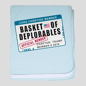Basket of Deplorables baby blanket