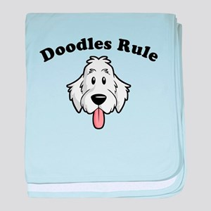 Doodles Rule baby blanket