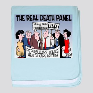 Real Death Panel baby blanket