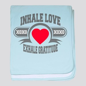 Inhale Love, Exhale Gratitude baby blanket