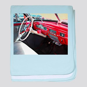 Classic car dashboard baby blanket